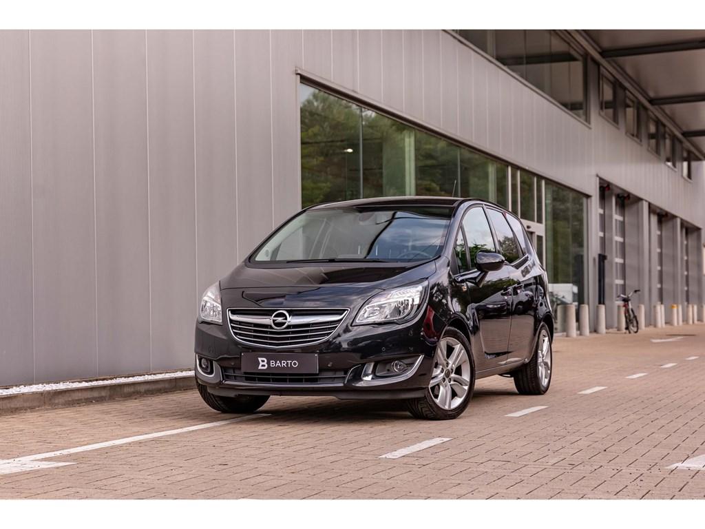 Tweedehands te koop: Opel Meriva Zwart - 14BenzNaviAuto AircoCameraParkeersens
