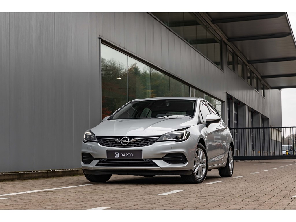 Opel-Astra-Zilver-12Benz-110pkEditionParkeersensAircoZetelverwAuto-Lichten