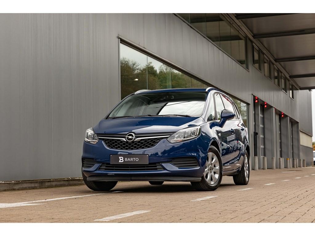 Tweedehands te koop: Opel Zafira Tourer Blauw - 14 Turbo 140pk ATAuto AircoParkeersensAuto Lichten