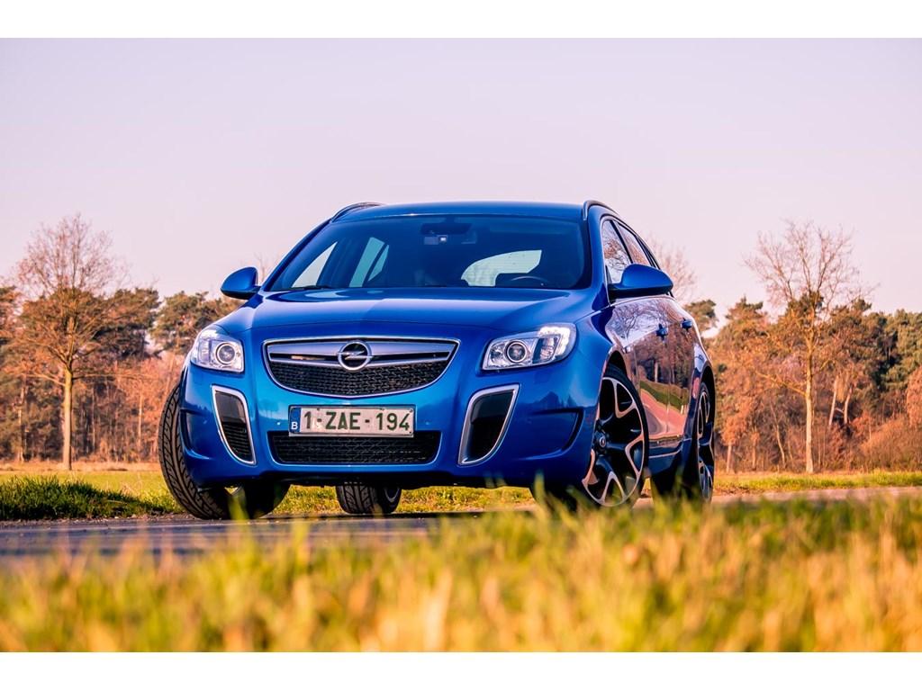 Tweedehands te koop: Opel Insignia Blauw - OPC - 28 V6 325pk - Recaro - Xenon - Navi