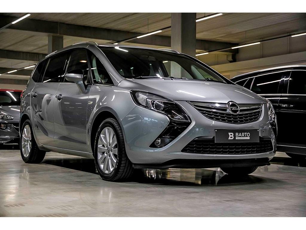 Tweedehands te koop: Opel Zafira Tourer Zilver - 20d 110pk - Alu velgen - Airco - Bluetooth - Cruisecontr - Regensens - Auto lichten -