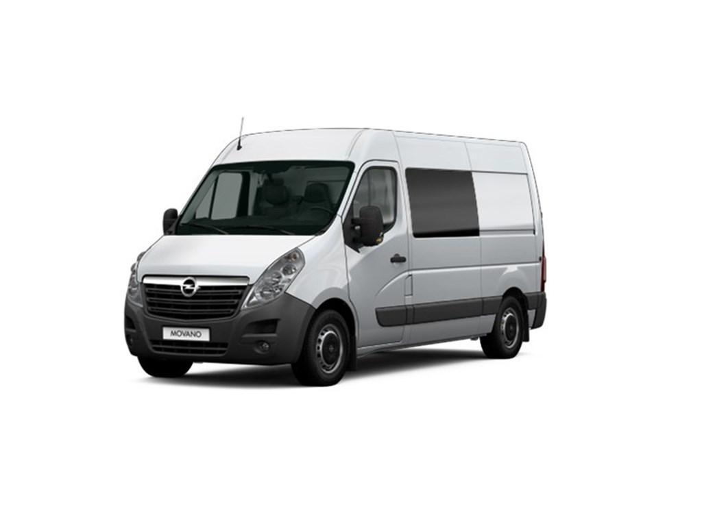Tweedehands te koop: Opel Movano Zilver - Dubbele Cabine 23 CDTi BiTurbo 145pk - L2H2 - FWD - Nieuw