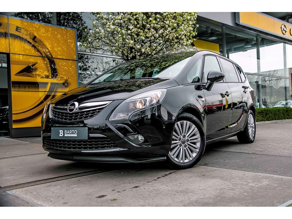 Tweedehands te koop: Opel Zafira Tourer Zwart - 14 T 140pk - Navigatie - Dodehoeksens - 7 zit - Auto Airco
