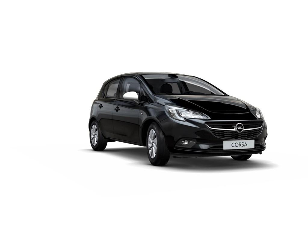 Tweedehands te koop: Opel Corsa Zwart - 5-Deurs 12 Enjoy 70pk - Nieuw - Intellilink