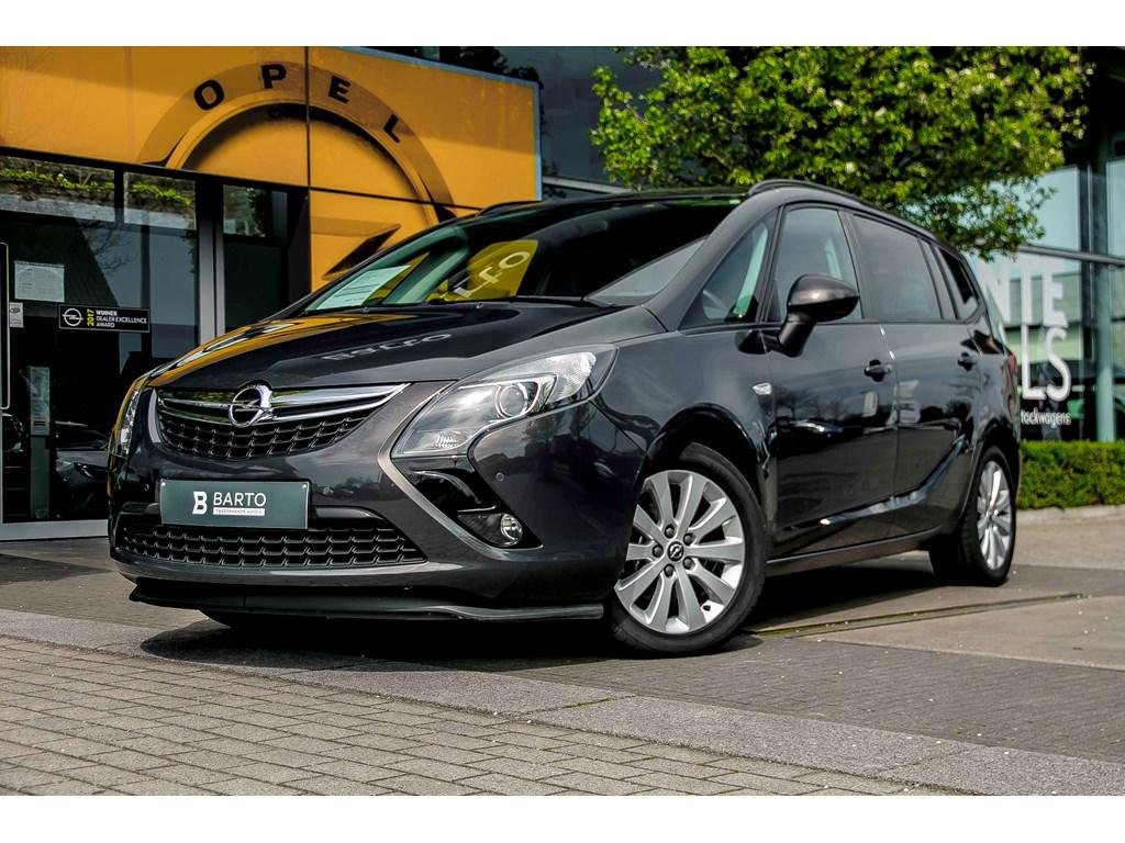 Tweedehands te koop: Opel Zafira Tourer Anthraciet - 20d 110pk - Airco - 7 plaatsen - Sportzetels - Flexride - Parkeersens va -