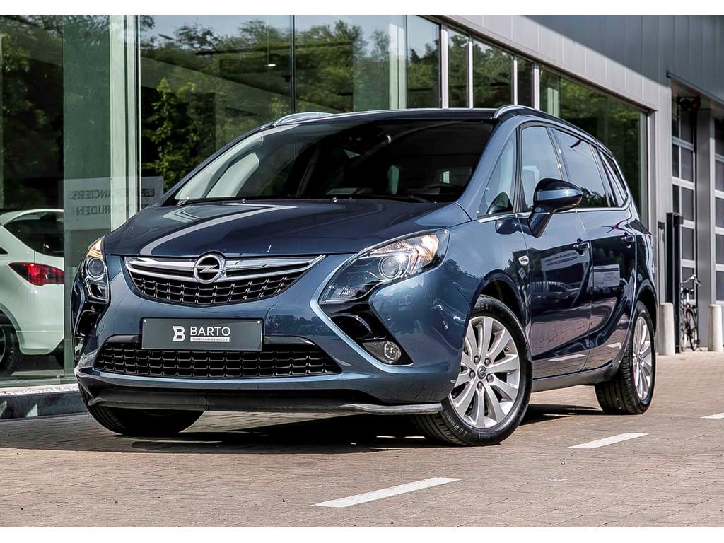 Opel-Zafira-Tourer-Blauw-14-T-140pk-AUTOMAAT-Navi-Achteruitrij-Camera-7-zit
