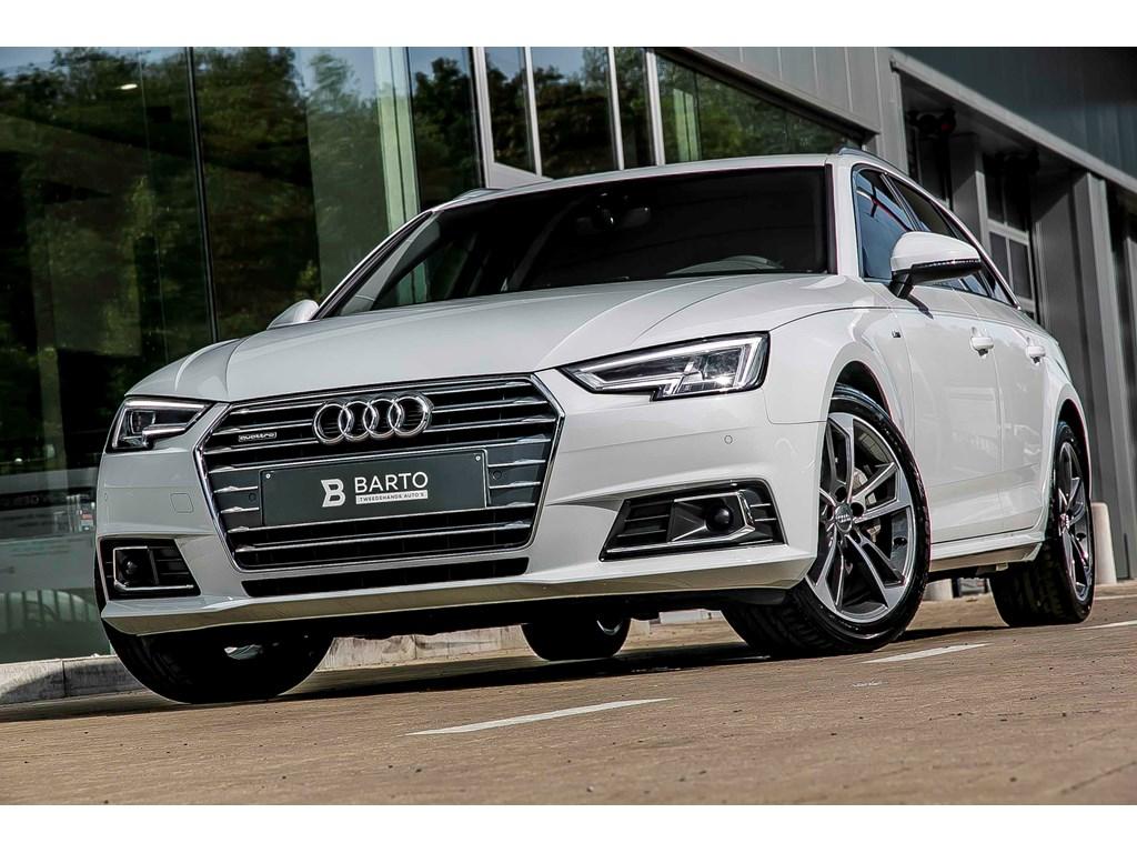 Tweedehands te koop: Audi A4 Wit - Avant - S line - 190 PK Qttr - Virt C - Full LED - BiColor Velgen