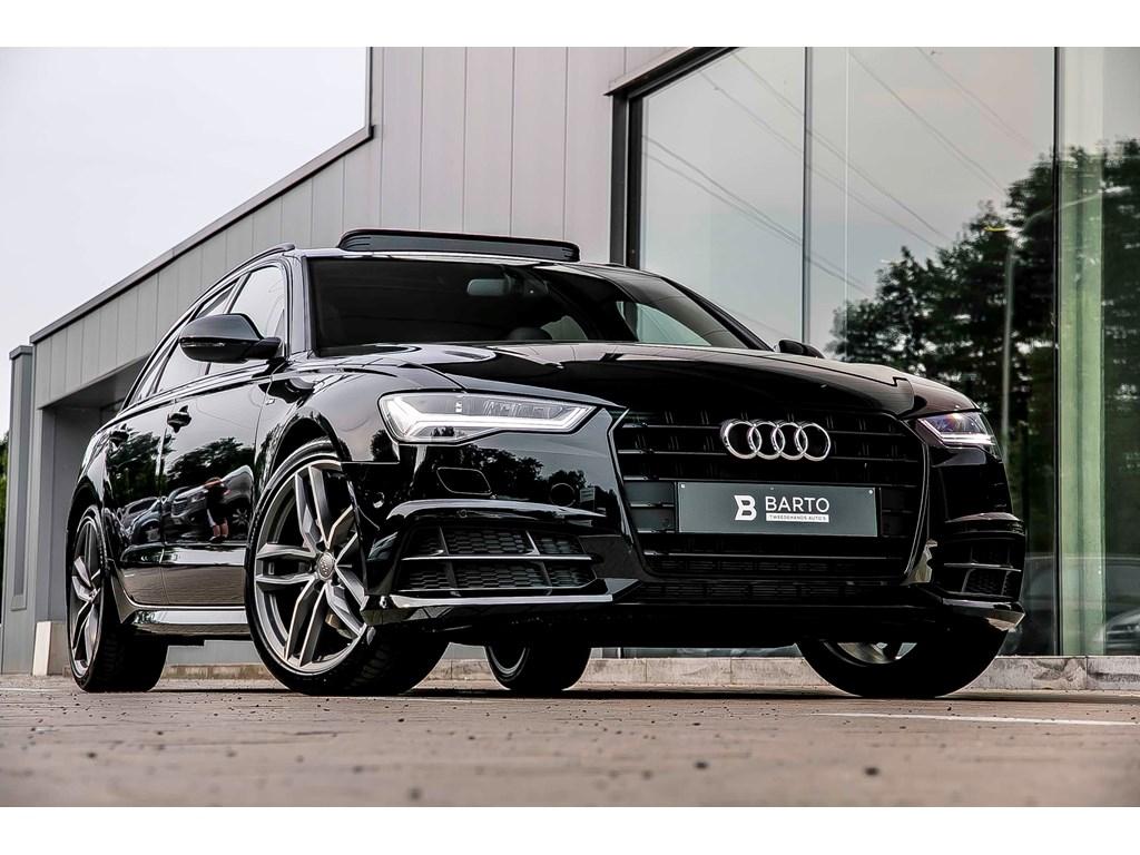 Audi-A6-Zwart-NIEUW-Avant-Stronic-190pk-RS-zetels-Full-led-S-line-RS-wielen-Pano-open-dak