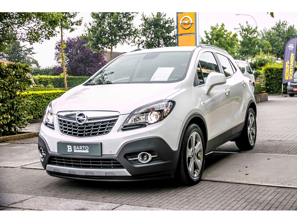 Tweedehands te koop: Opel Mokka Wit - Cosmo - 130pk - Leder - Xenon - Navi - Automaat