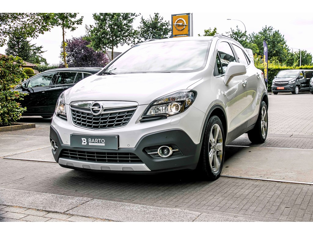 Tweedehands te koop: Opel Mokka Wit - Cosmo - Navi - Leder - Xenon - Camera - Fietsendrager