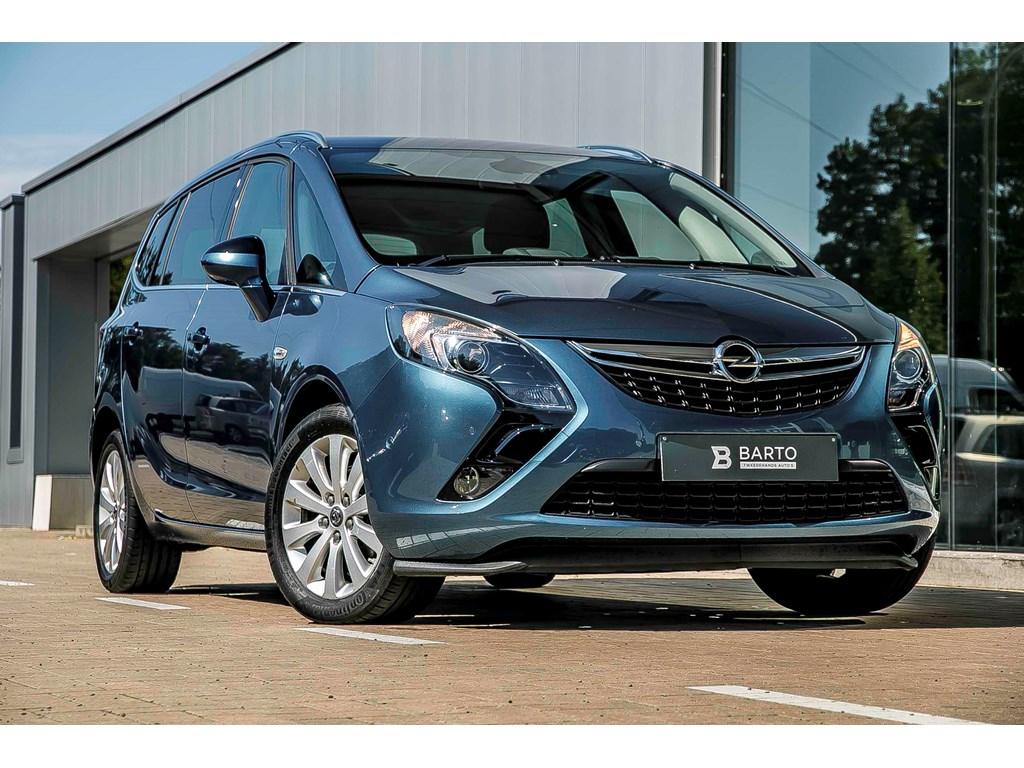 Tweedehands te koop: Opel Zafira Tourer Blauw - Cosmo - Navi - Afn TH - Camera - Dodehoeksens