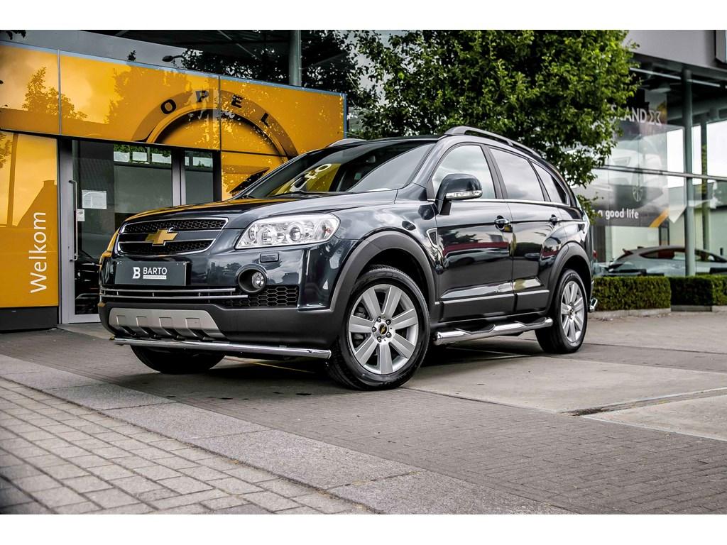 Tweedehands te koop: Chevrolet Captiva Blauw - Leder - Xenon - Automaat - Trekhaak - Sidesteps