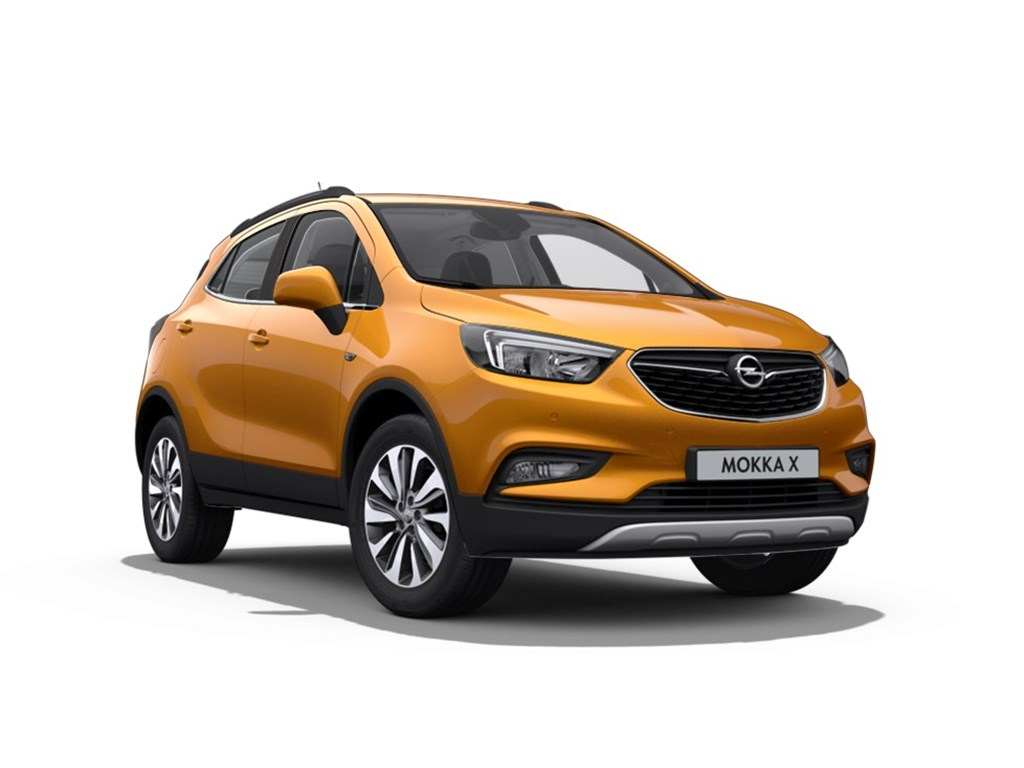 Opel-Mokka-Oranje-Innovation-14-Turbo-AUTOMAAT-Nieuw-Achteruitrijcamera-Navigatie-Leder