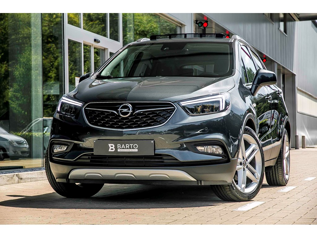 Tweedehands te koop: Opel Mokka Grijs - 14T - Leder - Matrix LED - Opendak - Camera - 19 - Keyless openstart