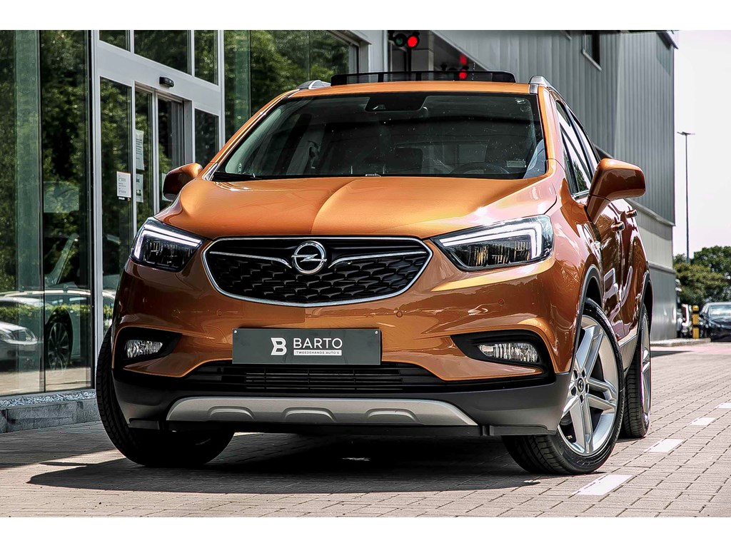 Tweedehands te koop: Opel Mokka Oranje - X 14 Turbo Innovation - Leder - Matrix LED - Opendak - Camera - 19 - Keyless openstart