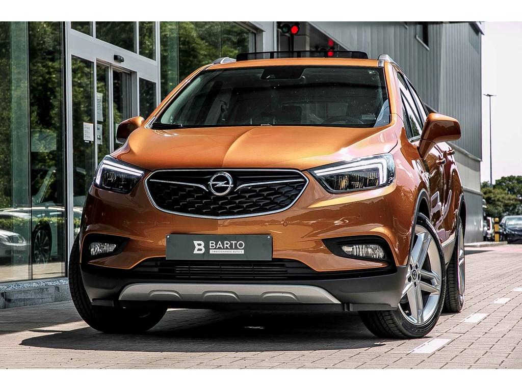 Tweedehands te koop: Opel Mokka Oranje - 14T - Leder - Matrix LED - Opendak - Camera - 19 - Keyless openstart