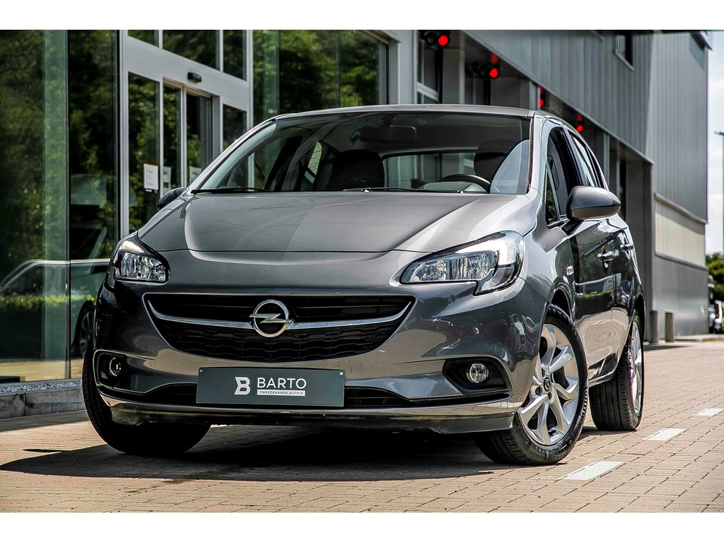Tweedehands te koop: Opel Corsa Grijs - 5-Deus - Enjoy - 14 benzine 90PK - Intellilink - airco -