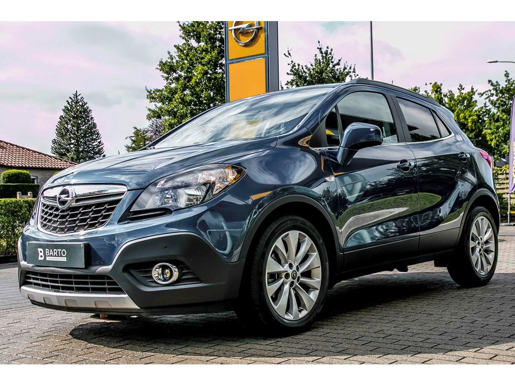 Tweedehands te koop: Opel Mokka Blauw - 14b TURBO 140pk - AUTOMAAT - Navi - Leder - Achteruitrijcamera - Verwarmd stuur -