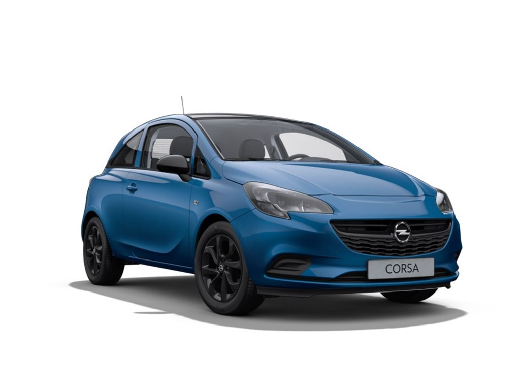 Tweedehands te koop: Opel Corsa Blauw - 3-Deurs 12 Benz Black Edition 70pk - Nieuw