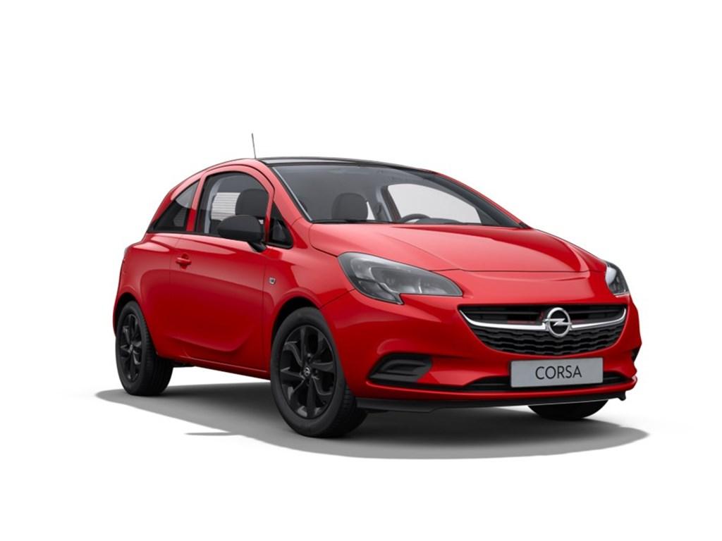 Tweedehands te koop: Opel Corsa Rood - 3-Deurs 12 Benz Black Edition 70pk - Nieuw