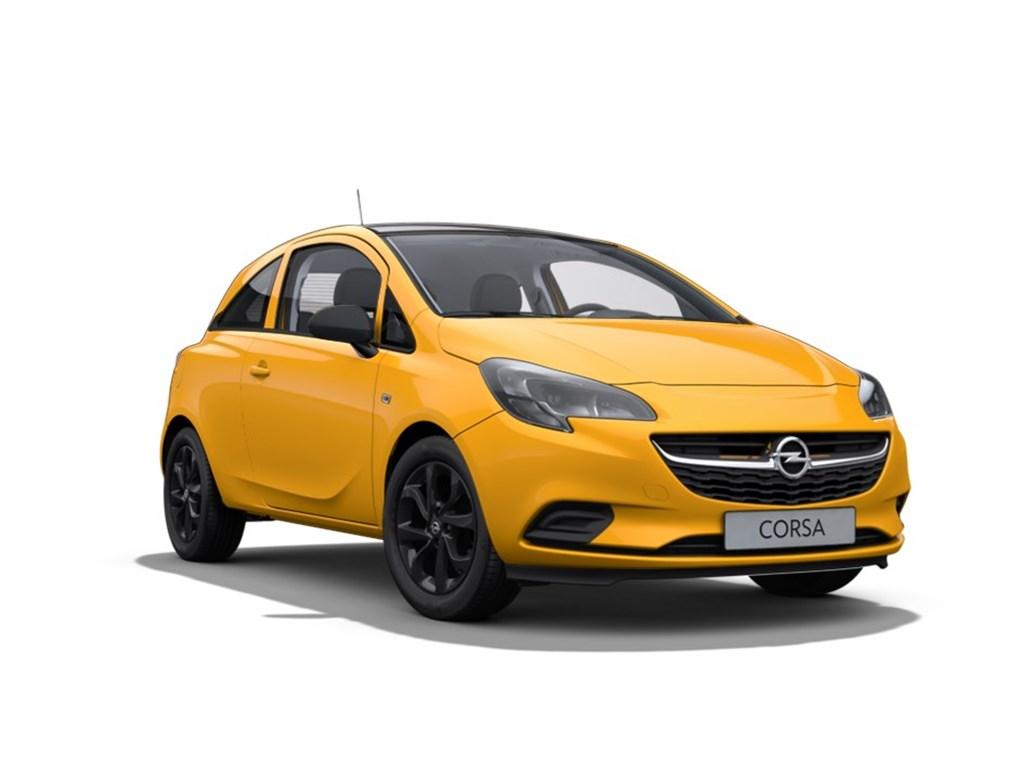 Tweedehands te koop: Opel Corsa Geel - 3-Deurs 14 Benz Black Edition 90pk - Nieuw