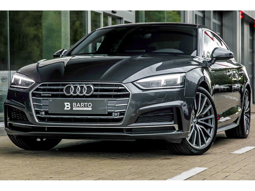 Tweedehands te koop: Audi A5 Grijs - Quattro - 190pk - S Line - NIEUW Matrix - Virt LED - Open dak - Nappa Leder
