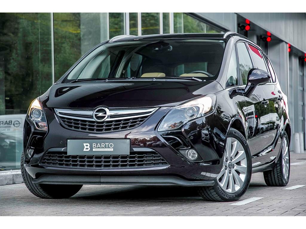 Tweedehands te koop: Opel Zafira Tourer Bruin - 20d 130pk - COSMO - Navi - Camera - Dodehoeksens - Parkeersens -