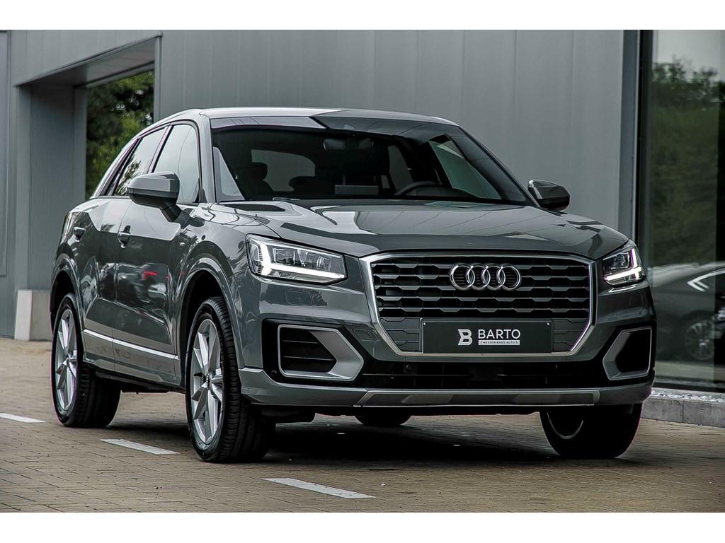 Tweedehands te koop: Audi Q2 Grijs - S line - Full LED - 16 Tdi - Navi - Donker glas - Electr Koffer -