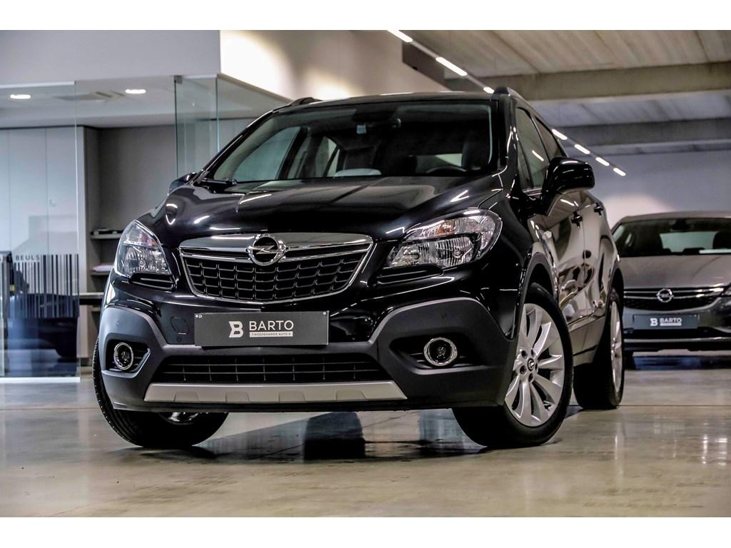 Tweedehands te koop: Opel Mokka Zwart - 16b 115pk - Leder - Verwarmde stoelenstuur - Navi - Auto Airco - Bluetooth -