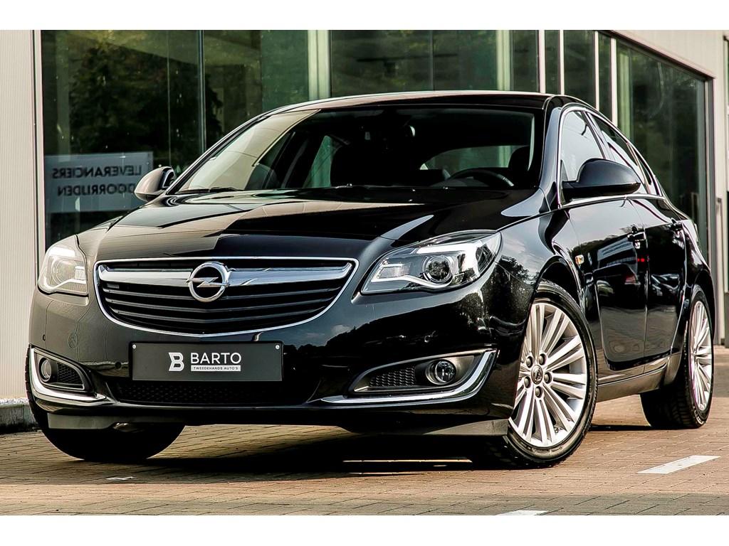 Tweedehands te koop: Opel Insignia Zwart - 16d 120pk - COSMO - Erg lederen Zetels - Navi - Aut Airco - Parkeersens -