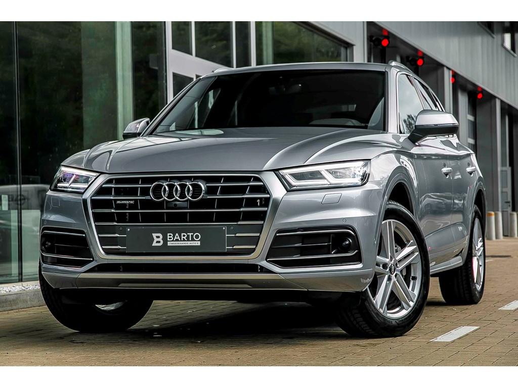 Audi-Q5-New-Zilver-Sport-190pk-S-line-Virt-Cockp-360-cam-Adapt-CC-