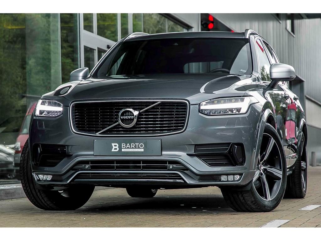 Tweedehands te koop: Volvo XC90 Grijs - R-Design - D5 235pk - Full LED - Adapt Ophanging - 5 zit