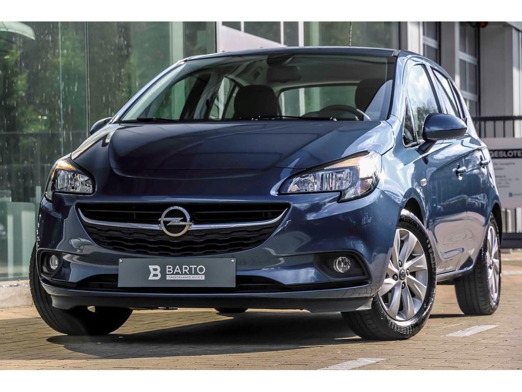 Tweedehands te koop: Opel Corsa Blauw - 12b 70pk - Airco - Intellilink - Auto lichten - regensens -
