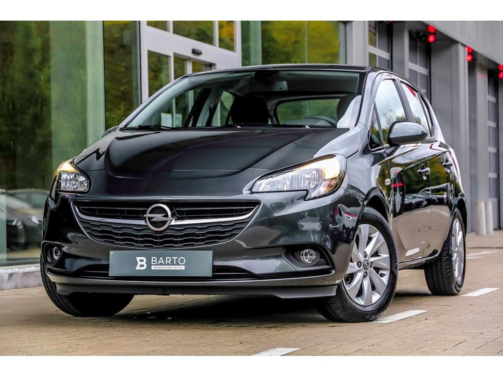 Opel-Corsa-Grijs-12b-70pk-Weinig-KM-Intellilink-Airco-Regensens-