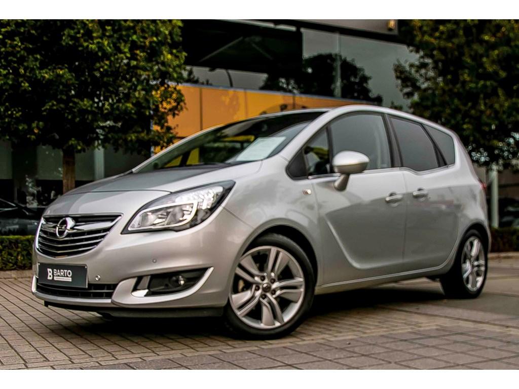 Tweedehands te koop: Opel Meriva Zilver - 14 Turbo 120pk - Navi - Airco - Achteruitrijcamera - Alu Velgen -