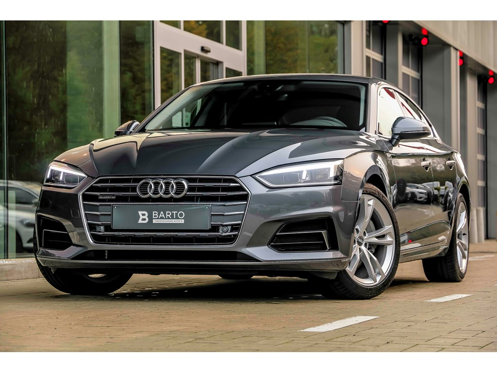 Tweedehands te koop: Audi A5 Grijs - Sport - 190 pk - Quattro - LED - MMI plus - Leder - Camera -