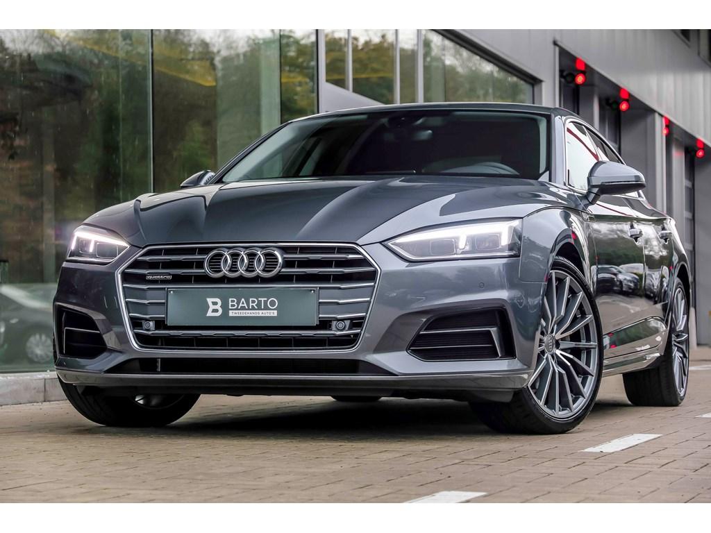 Tweedehands te koop: Audi A5 New Grijs - Sport - 190 pk - 19 - Quattro - LED - MMI plus - Leder - Camera -