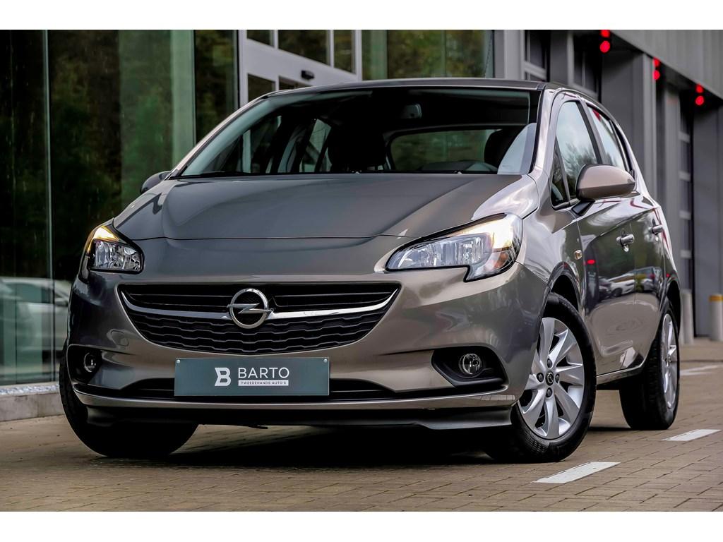 Tweedehands te koop: Opel Corsa Bruin - 10b 90pk - Airco - Intellilink - bluetooth - USB -