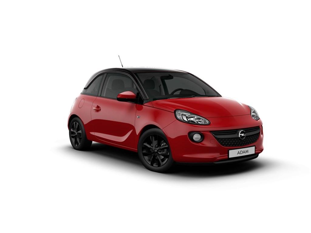 Tweedehands te koop: Opel ADAM Rood - Black Jack 12 Benz 70pk - Nieuw - Intellilink - Parkeersens