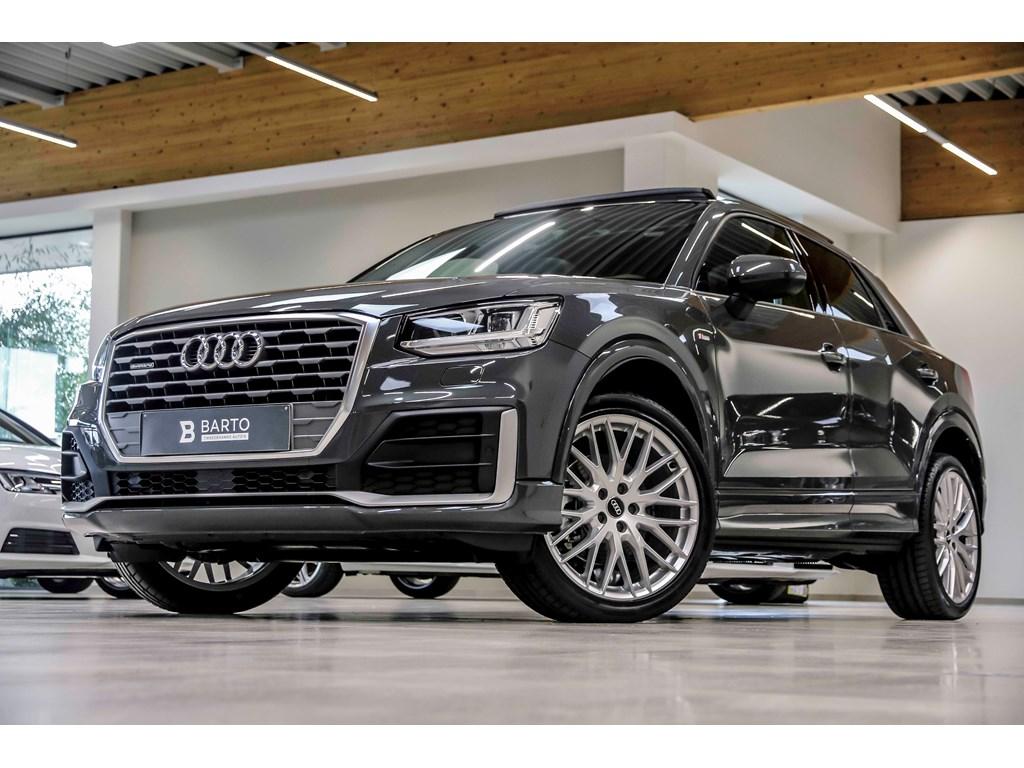 Tweedehands te koop: Audi Q2 Grijs - S-tronic - 150pk - Quattro - Full LED - Pano - 19 - S line - Navi