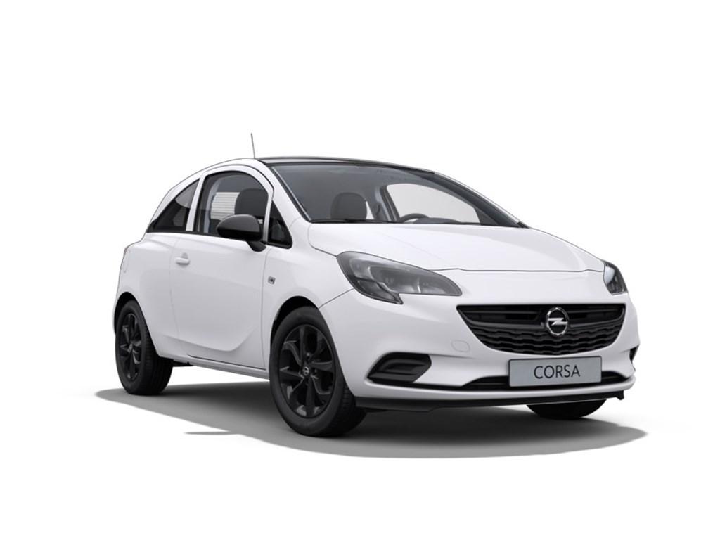 Tweedehands te koop: Opel Corsa Wit - 3-Deurs 12 Benz 70pk Black Edition - Nieuw