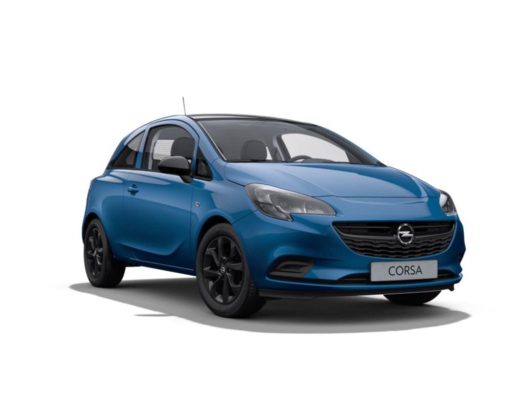 Tweedehands te koop: Opel Corsa Blauw - 3-Deurs 12 Benz 70pk Black Edition - Nieuw