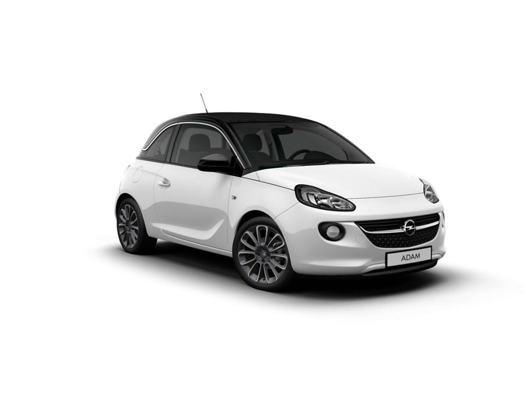 Tweedehands te koop: Opel ADAM Wit - Open Air 12 Benz 70pk - Nieuw - Intellilink - Parkeersens