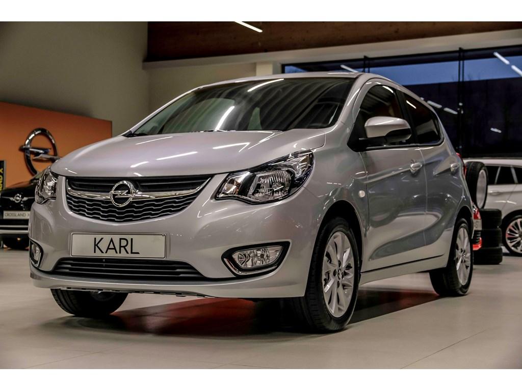 Tweedehands te koop: Opel KARL Zilver - 10 Cosmo - Nieuw - half leder - Airco - Bluetooth -