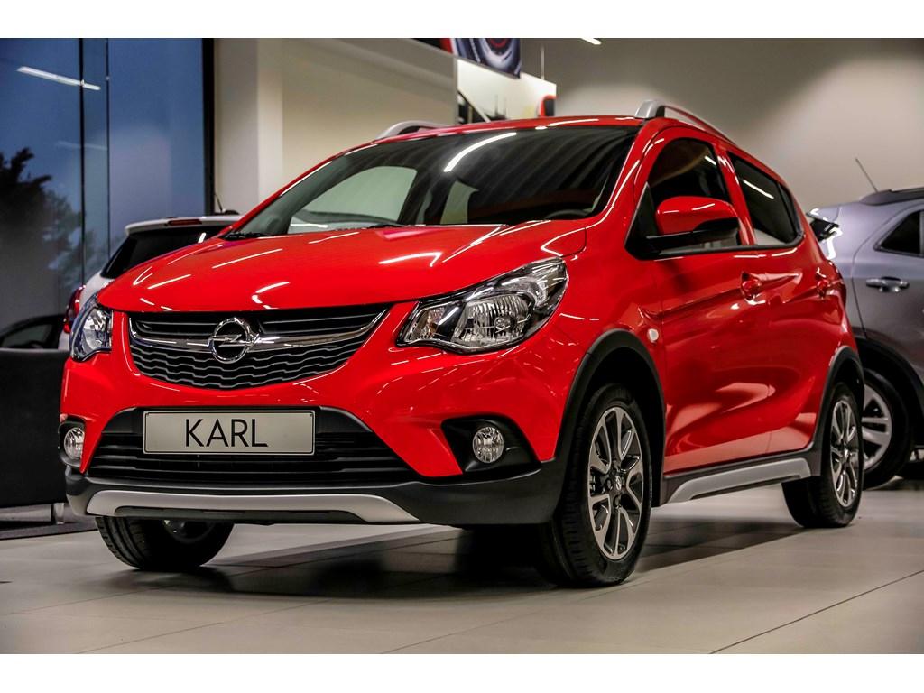 Tweedehands te koop: Opel KARL Rood - Rocks 10 Benz 75pk - Nieuw