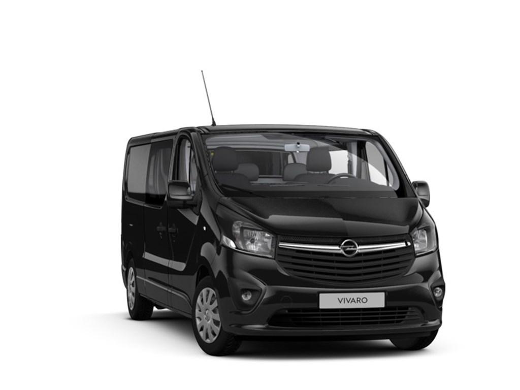 Tweedehands te koop: Opel Vivaro Zwart - Dubbele Cabine Black White L2H1 5pl - 16 CDTi 146pk - Nieuw