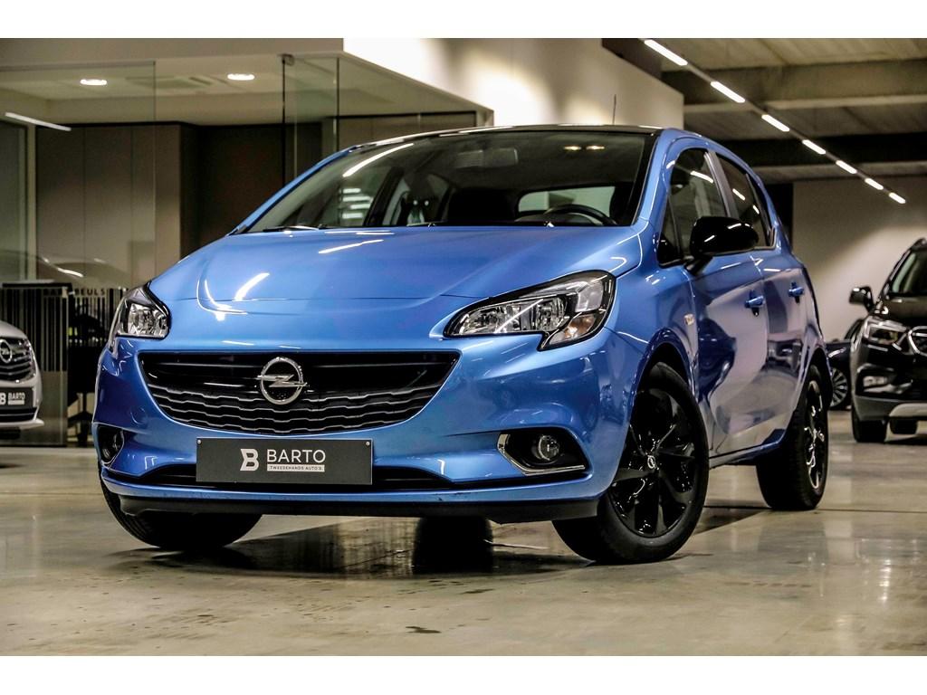 Opel-Corsa-Blauw-5-Deurs-Black-Edition-14-Benz-90pk-intellilink-Radio-Weinig-Kms