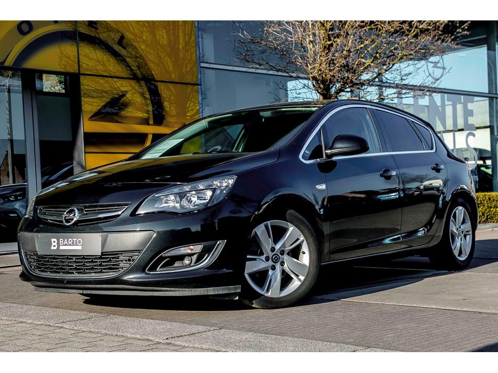 Tweedehands te koop: Opel Astra Zwart - 17d 110pk - Cosmo - Leder - Auto Airco - 1 jaar volledige garantie -