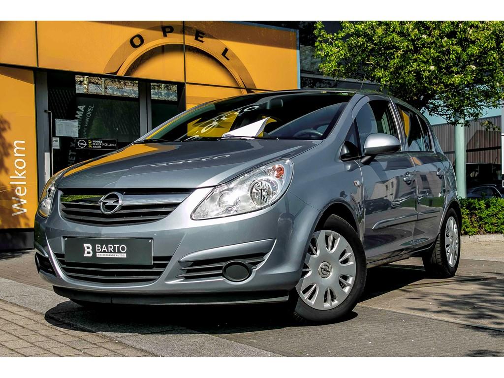 Tweedehands te koop: Opel Corsa Blauw - 13d 75pk - Enjoy - Airco - RadioCD - 1 jaar volledige garantie
