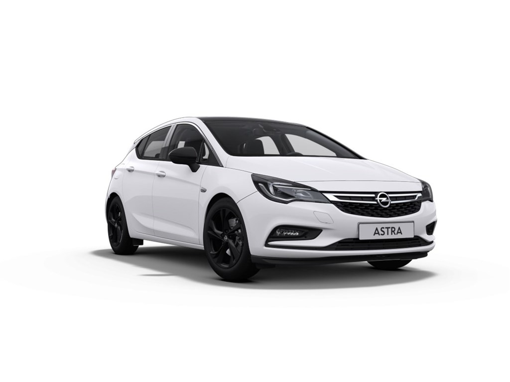 Tweedehands te koop: Opel Astra Wit - 5-Deurs 14 Turbo Benz 125pk - Black Edition - Nieuw